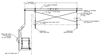 Dimension Drawing for Outrigger Beam Support Frames