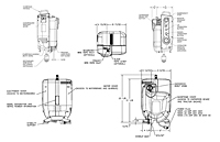 Dimensional Drawing for SC1000 & SC1500 Series Traction Hoists